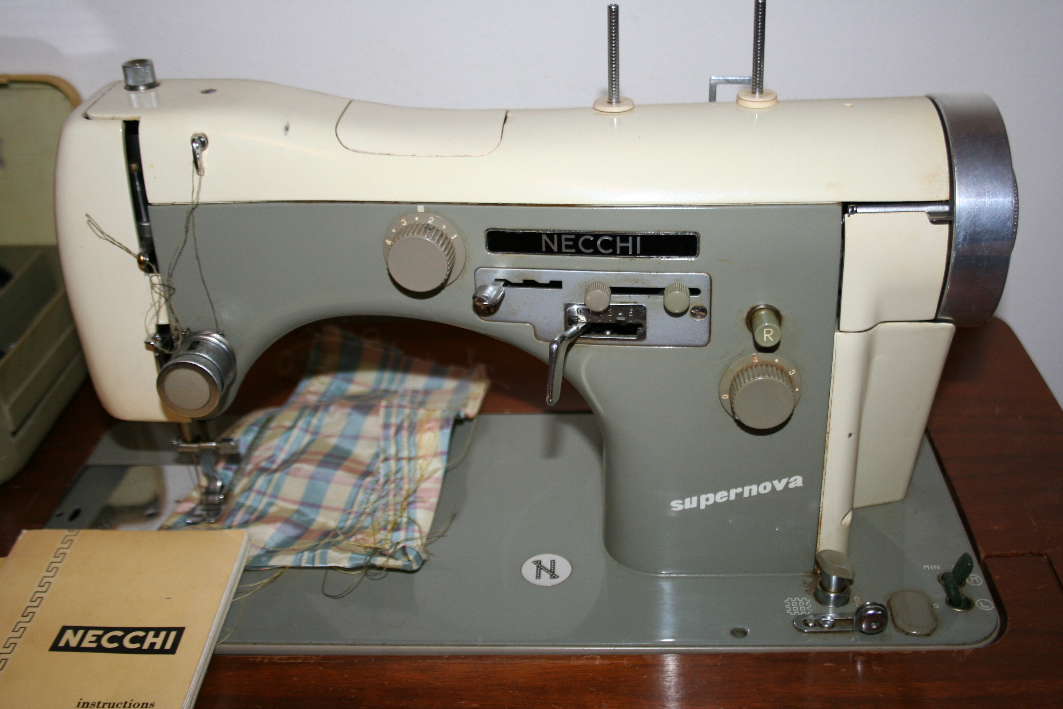 From The Bradys To Eighties Past Sale Amber Ostrich Estate Necchi Supernova Sewing Machine Threading Diagram Vintage