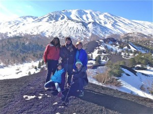 soffer family on mt etna sicly 2014