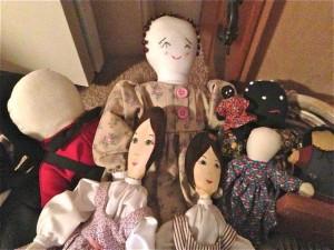 cloth dolls basket